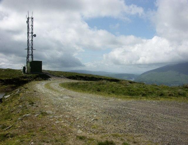 Mobile phone base station near Bealach nan Cabrach
