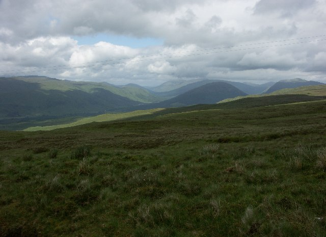 View North East from Bealach nan Cabrach