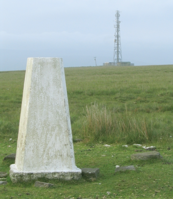 Trig point on Betws Mountain