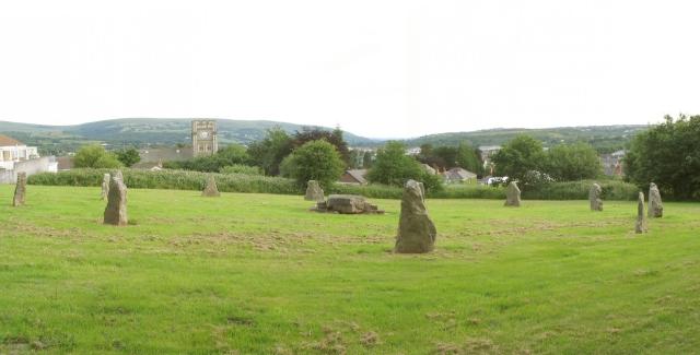 The Gorsedd stone circle, Ammanford
