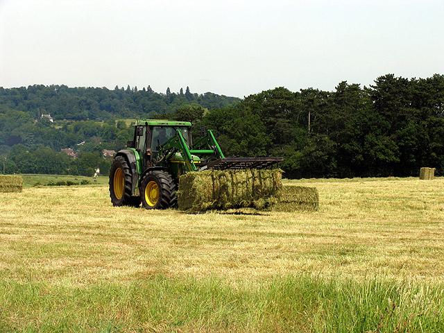 Hay making on Farmland near Pangbourne
