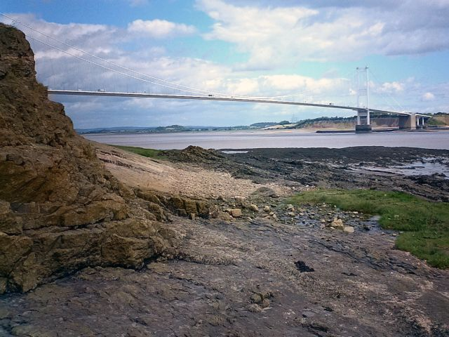 Beachley Point with view of the first Severn Bridge
