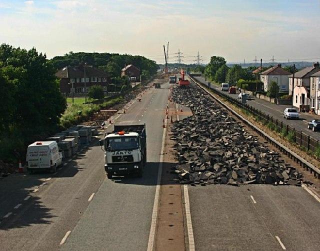 Road removal at Fairburn