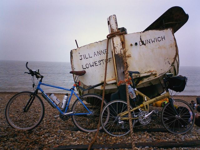 Boat and Bikes at Dunwich
