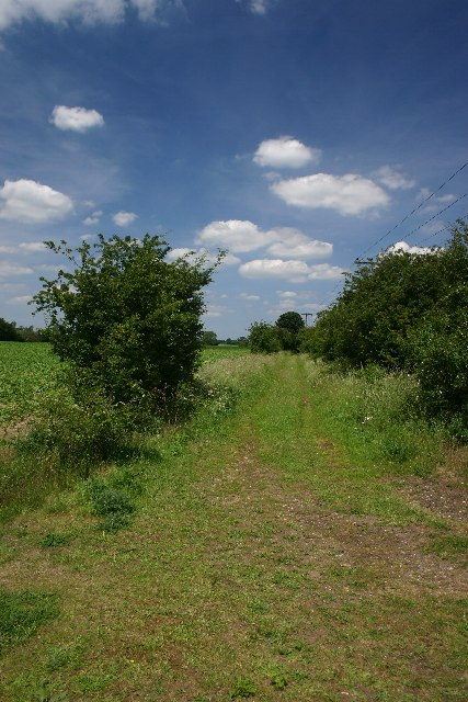 Disused railway north of Bury St Edmunds