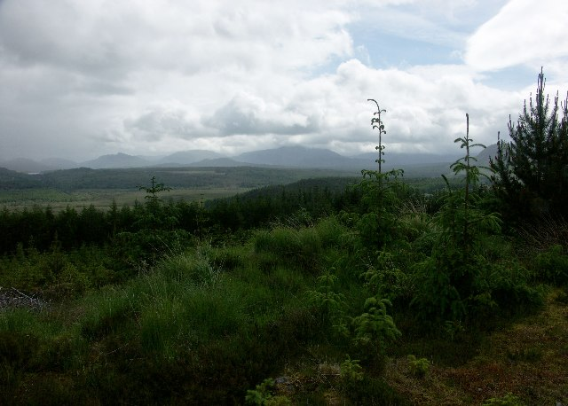 View up the Spean valley from near Inverlair