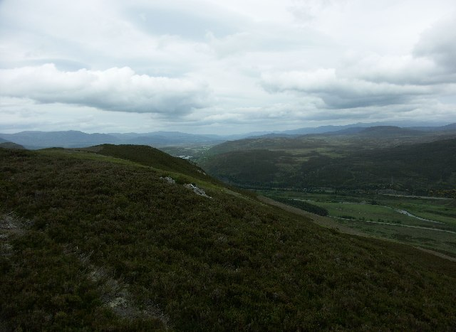 View North up the Spey Valley from Crubenmore
