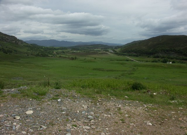 View up Spey Valley from near Crubenmore
