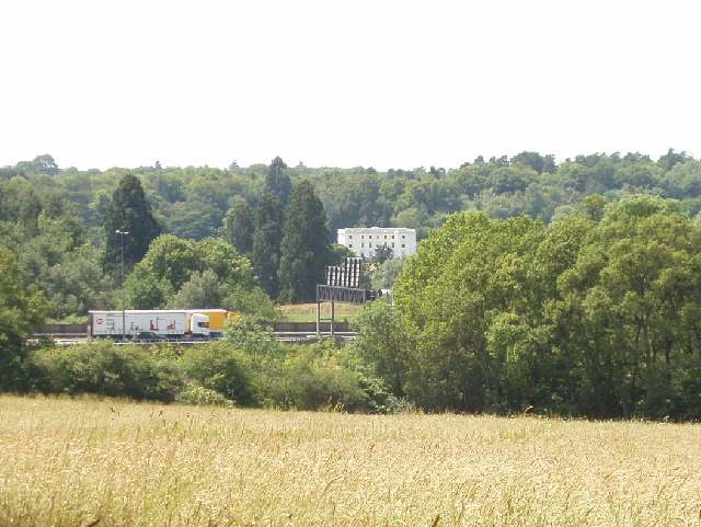 View from Gerrards Cross to Fulmer Hall across the M40 Motorway