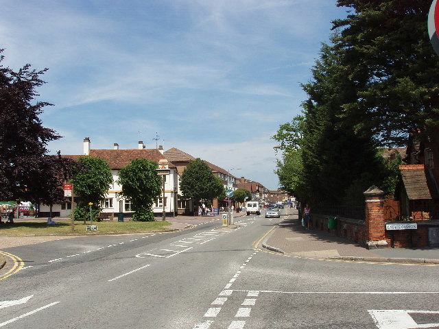 Gerrards Cross town centre from the common