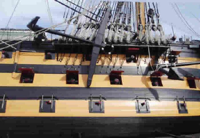 HMS Victory - broadside on