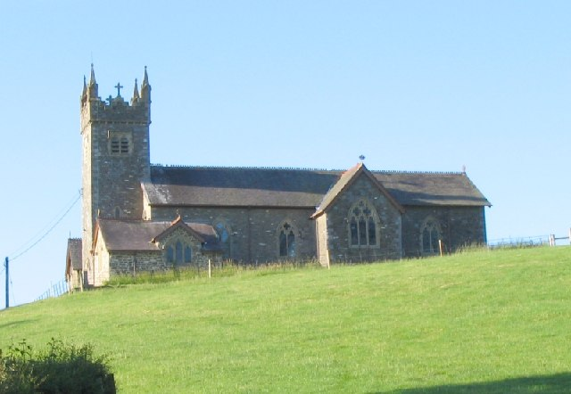 St Mary's church at Court Henry near Drislwyn, Carmarthenshire