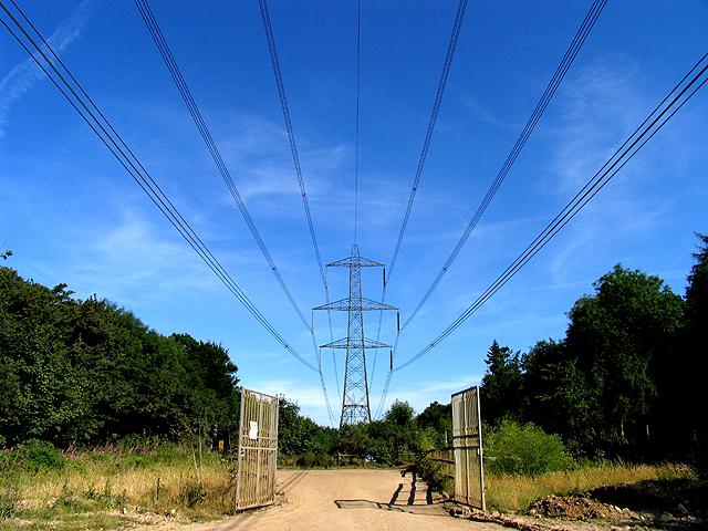Pylons overhead