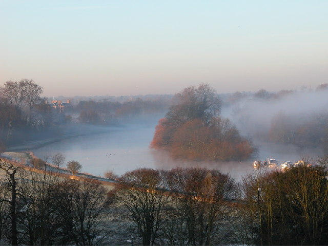 Misty Thames from Richmond Hill