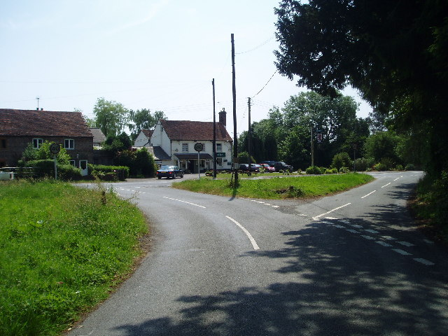 The Red Lion and cross roads