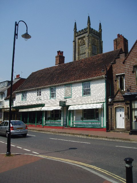 The old houses and shops at East Grinstead