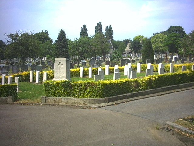 WW1 Australian Military Graves, Wandsworth Cemetery, Magdalen Road.