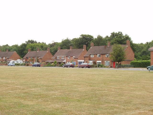 Jones Way across the green at Hedgerley Hill