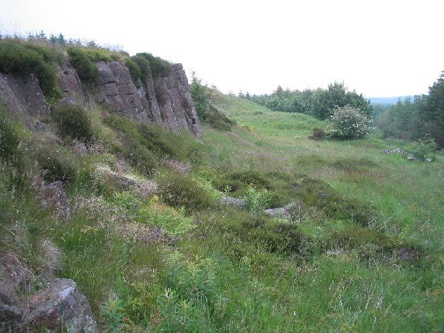 Disused quarry Craigencat Craigs