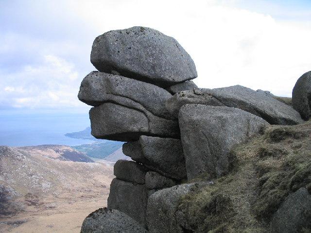 Granite torr on Beinn Tarsuinn