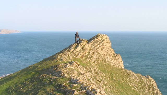 Tears Point near Worm's Head, Gower peninsula