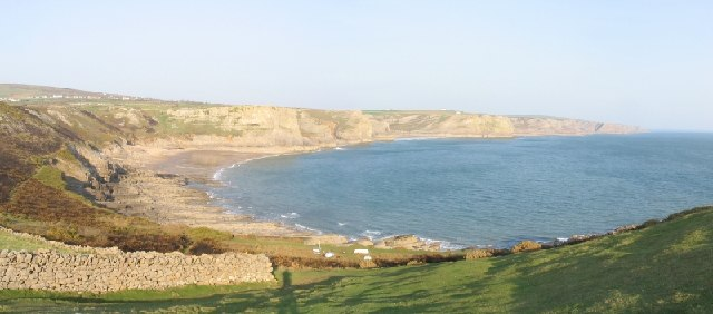 Fall Bay & Mewslade Bay on the Gower peninsula