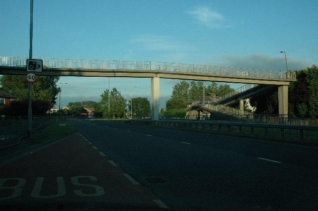 Footbridge over A57