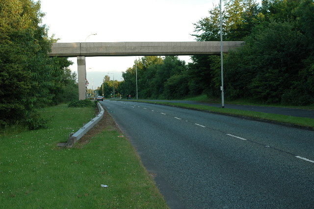 Footbridge over A574