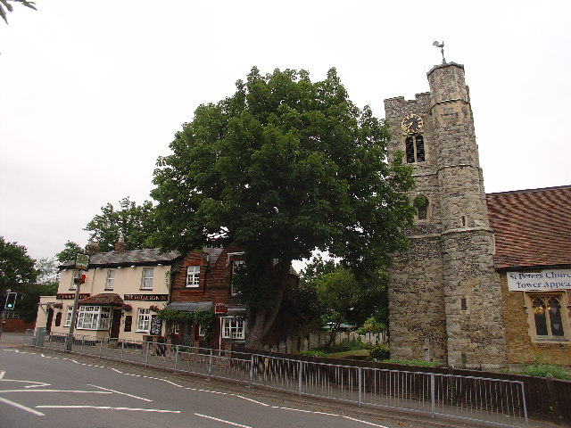 The Royal Oak and St Peters Church, Molesey