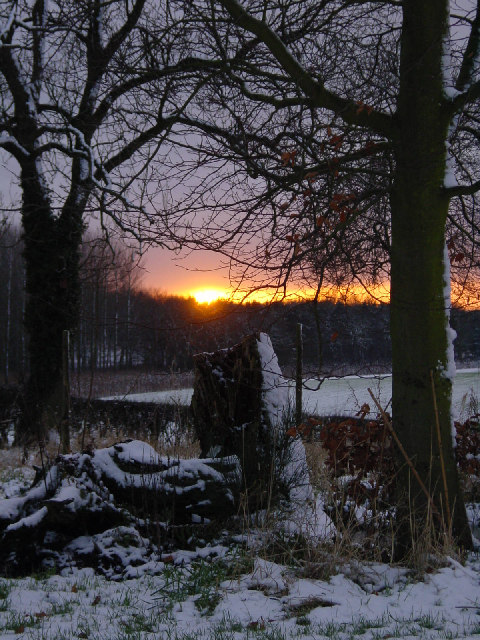 Winter Sunset over Brawith