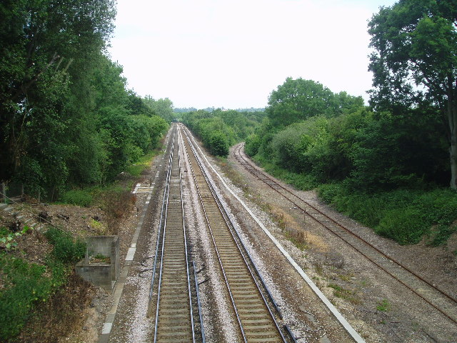 View from Copyhold bridge to the North