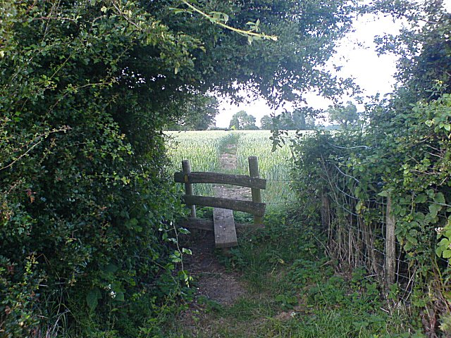 A stile between fields