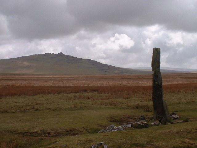 Standing Stone near White Tor, Peter Tavy