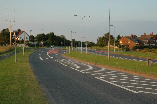Junction along Widnes Road, Penketh