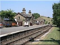 SE0338 : Oakworth Station, Keighley & Worth Valley Railway. by Alan Fleming