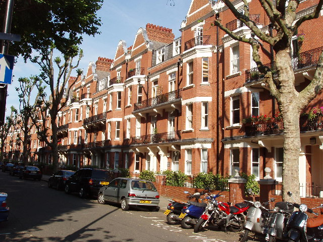 Mansion flats in Maida Vale