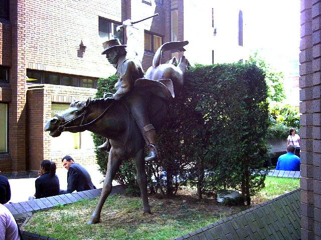 Statue at 96 George Street, Croydon.