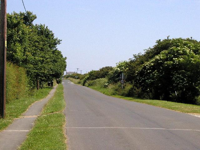 The main road in Kilnsea