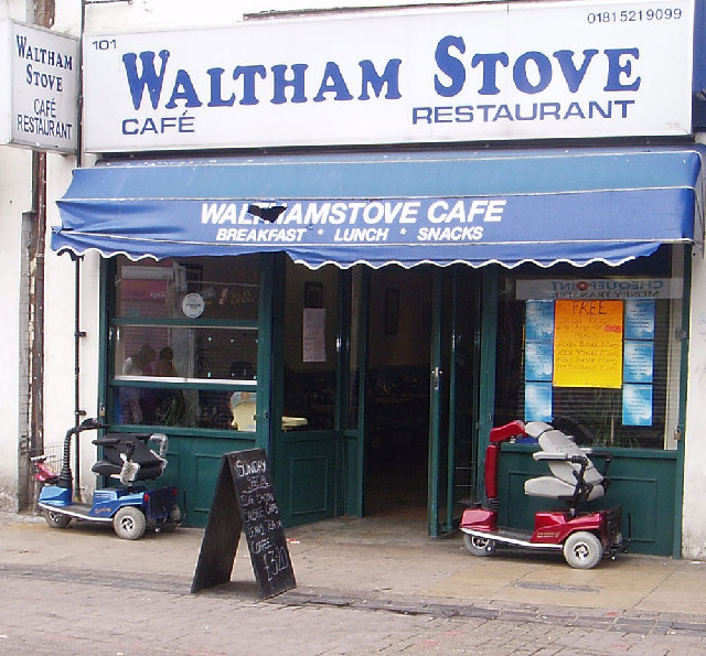 The Waltham Stove cafe on the High Street