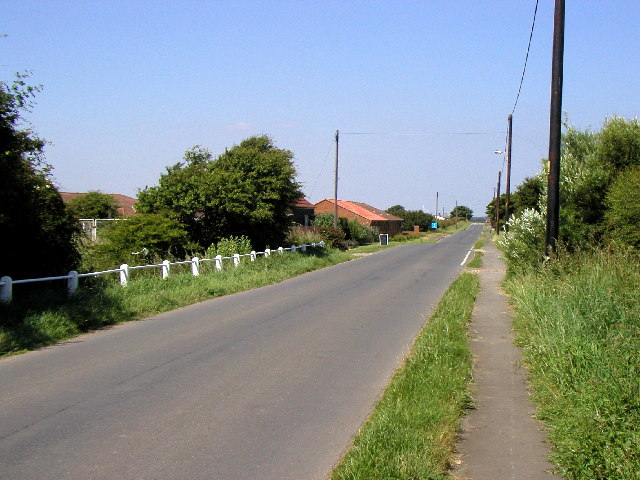 The main road in Kilnsea