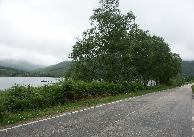 B863 on North side of Loch Leven - Glencoe visible on other side of the loch