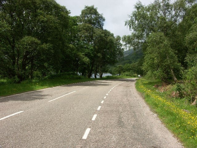 B863 on North side of Loch Leven