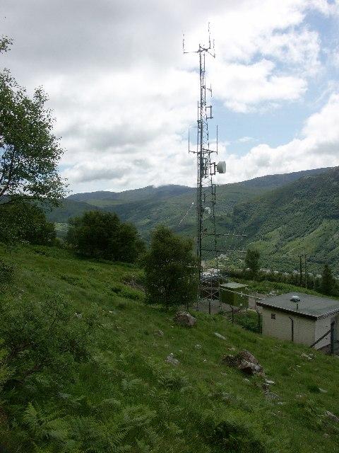 BBC radio and TV station near Kinlochleven