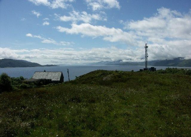 View down Loch Linnhe from near Onich