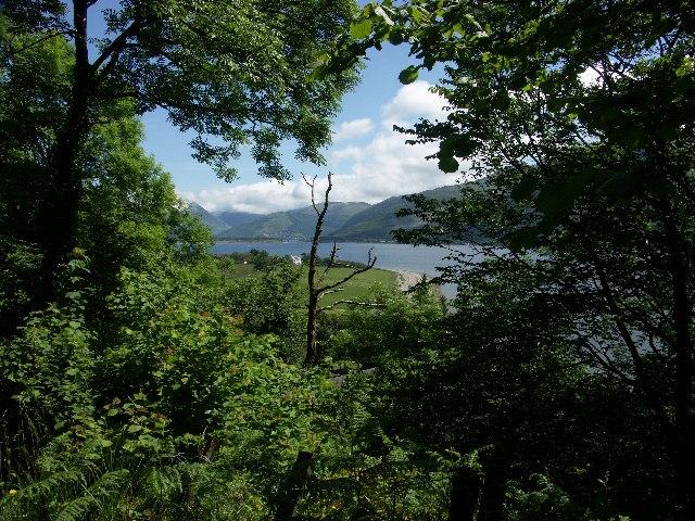 View down Loch Leven from near Onich