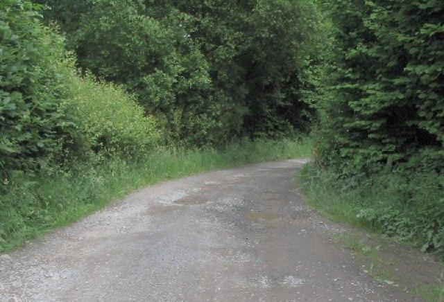 Lane to car park below Llyn-y-Fan Fach