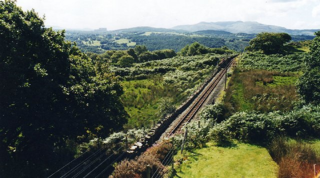 The spiral loop at Dduallt on the Ffestiniog Railway