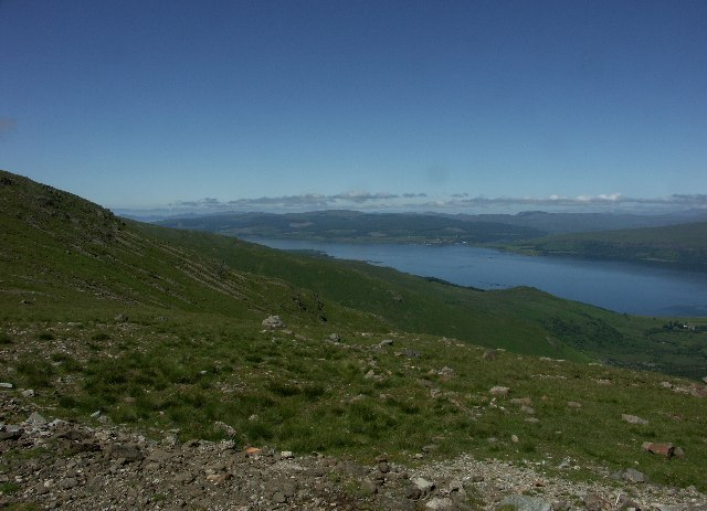 View up the Sound of Mull from near Creag Dhubh