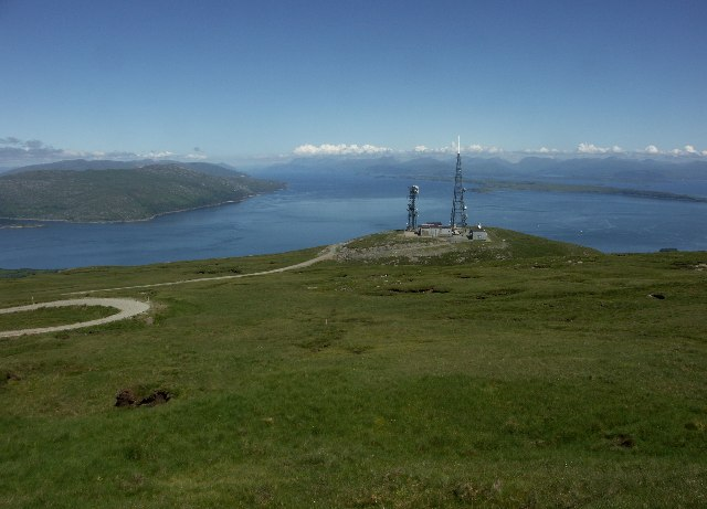 View up the Sound of Mull over BBC TV transmitter