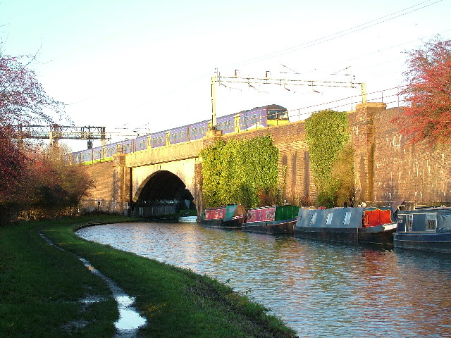 West Coast Main Line crossing Grand Union Canal
